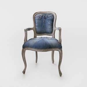 Denim French Chair