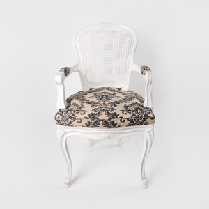 Pattern White French Chair